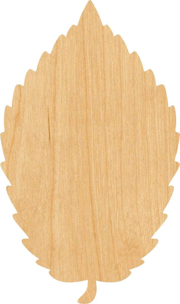 Elm Leaf Wooden Laser Cut Out Shape - Great for Crafting - Hobbyist - D.I.Y. Projects