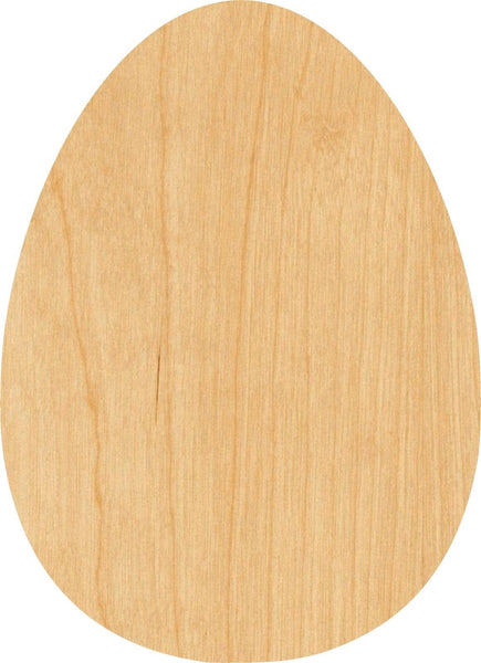 Egg Wooden Laser Cut Out Shape - Great for Crafting - Hobbyist - D.I.Y. Projects