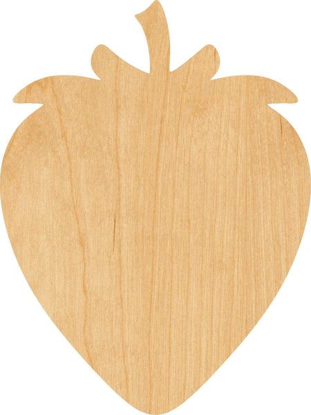 Strawberry Wooden Laser Cut Out Shape - Great for Crafting - Hobbyist - D.I.Y. Projects