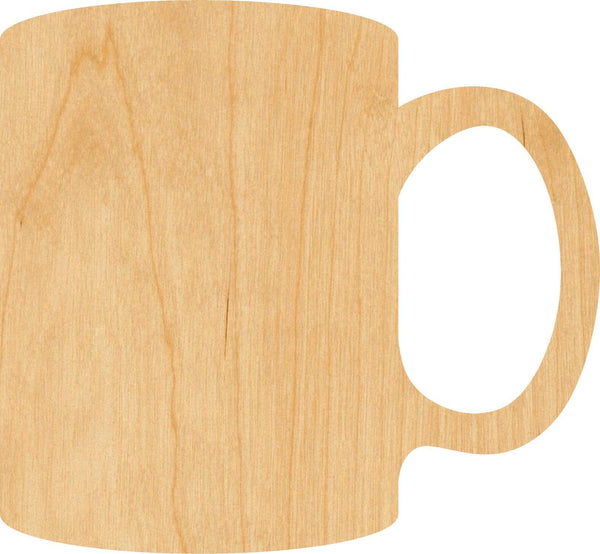 Mug Wooden Laser Cut Out Shape - Great for Crafting - Hobbyist - D.I.Y. Projects
