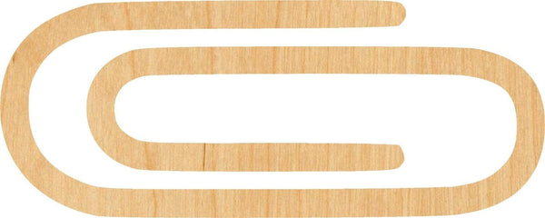 Paper Clip Wooden Laser Cut Out Shape - Great for Crafting - Hobbyist - D.I.Y. Projects