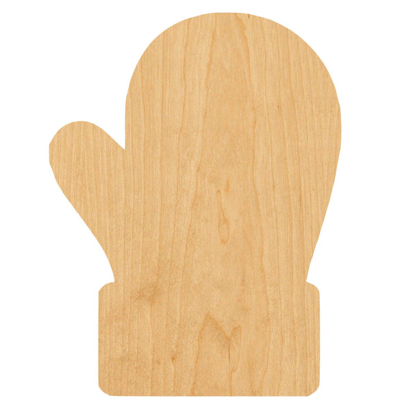 Mitten Wooden Laser Cut Out Shape - Great for Crafting - Hobbyist - D.I.Y. Projects