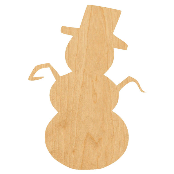 Snowman Wooden Laser Cut Out Shape - Great for Crafting - Hobbyist - D.I.Y. Projects