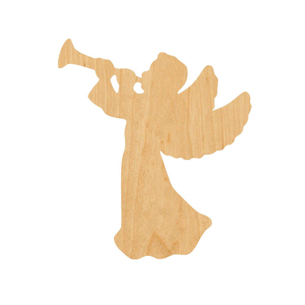 Angel Trumpet Wooden Laser Cut Out Shape - Great for Crafting - Hobbyist - D.I.Y. Projects