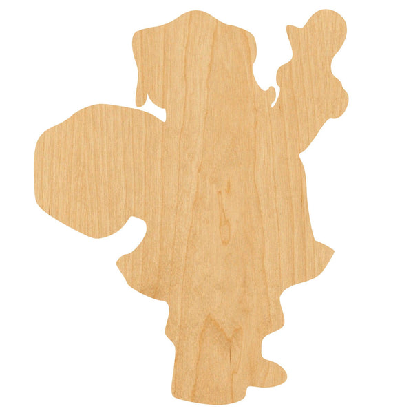 Santa Waving 2 Wooden Laser Cut Out Shape - Great for Crafting - Hobbyist - D.I.Y. Projects