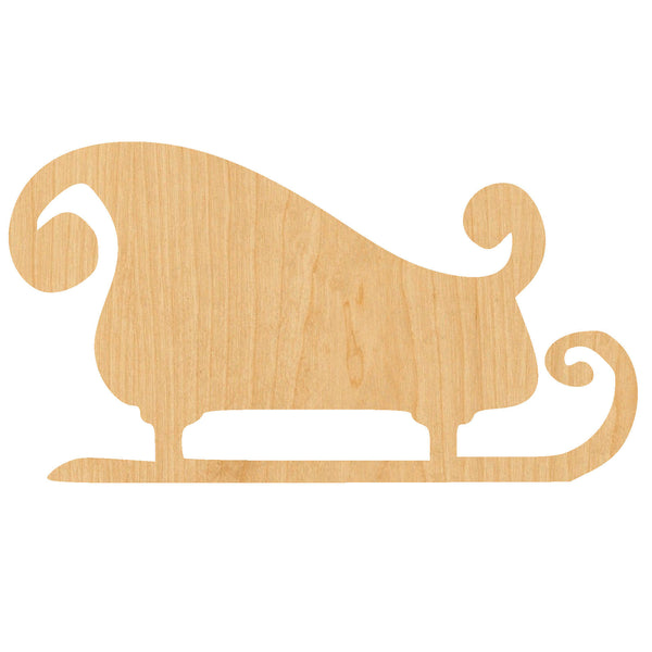Sleigh Wooden Laser Cut Out Shape - Great for Crafting - Hobbyist - D.I.Y. Projects