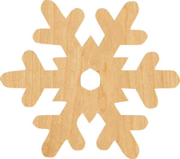 Snowflake 2 Wooden Laser Cut Out Shape - Great for Crafting - Hobbyist - D.I.Y. Projects
