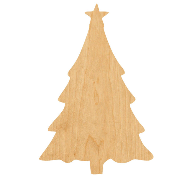 Xmas Tree Wooden Laser Cut Out Shape - Great for Crafting - Hobbyist - D.I.Y. Projects