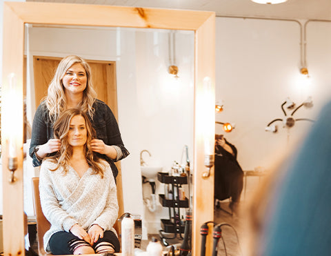Stylist with client