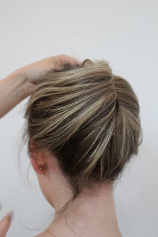 Foilyage on blonde hair up