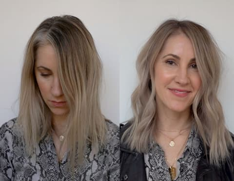 Grey Coverage with Foilyage