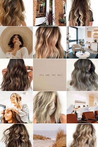 instagram branding for salon's example