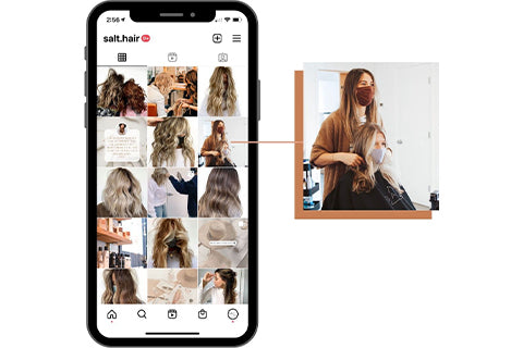 Instagram tips for hair stylists feed