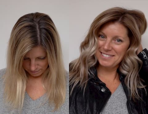 salt balayage grey coverage after