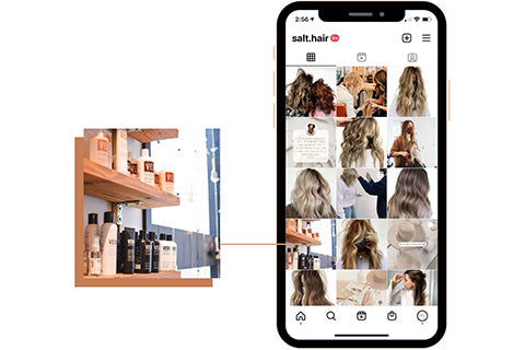 Instagram tips for hair stylist selling retail