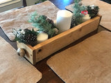 Table centerpiece box  w/ white rustic knob handles - Old Soul AZ