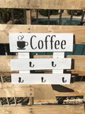 Coffee Cup holder wood sign - Old Soul AZ