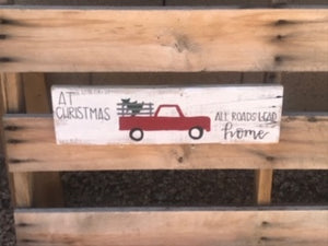 Christmas w/ Truck sign - Old Soul AZ