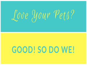 Love Your Pets? Good! So Do We! innov8tion slogan