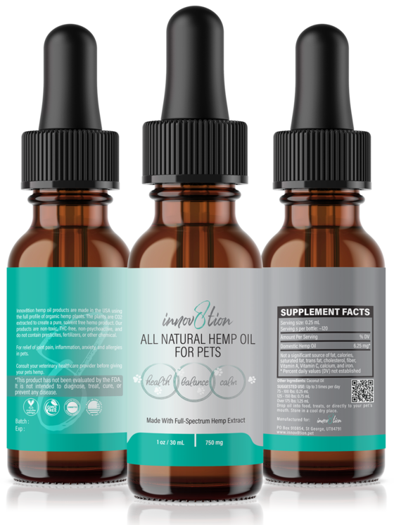 750 mg CBD oil for pets by innov8tion