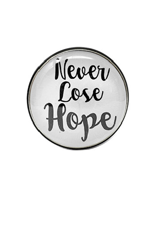 """NEVER LOSE HOPE"" GLASS TOP CELL PHONE Grip"