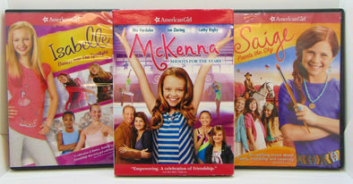 3 American Girl DVD Movies Saige Isabelle and McKenna
