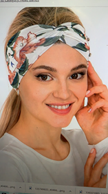 Tropical Floral Front Twist Headband