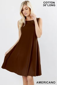 Zenana CLASSIC A-LINE DRESS w/ pockets