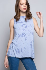 """Splash Into The Dye"" sleeveless knit top"