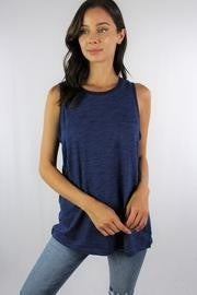 Marianne Tank Top Front Pocket Blue