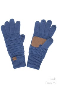 C.C. Knitted Touch Screen Compatible Gloves