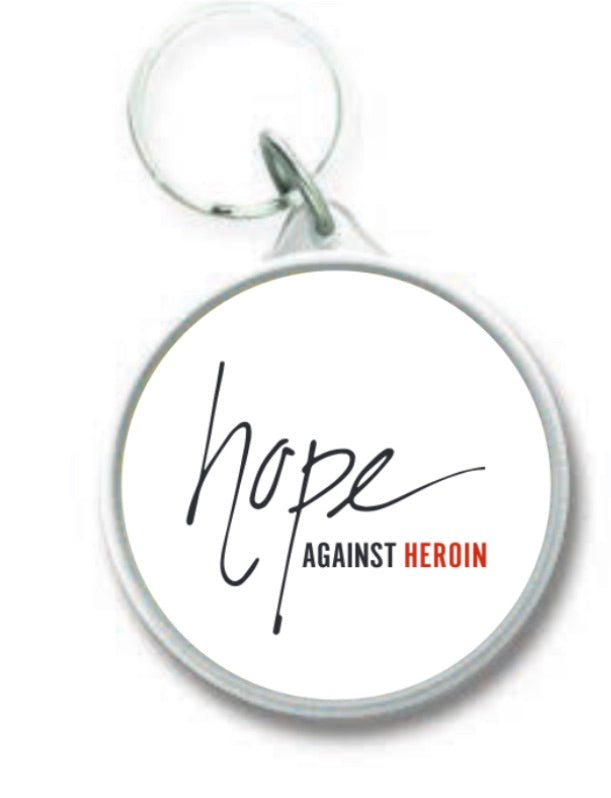 Hope Against Heroin Round Keychain