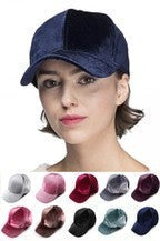 C.C Solid Color Velvet Baseball Cap