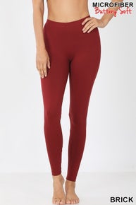 Zenana PREMIUM MICROFIBER FULL LENGTH LEGGINGS