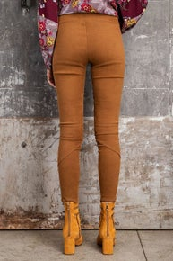 Easel High Rise Suede Skinny Pants