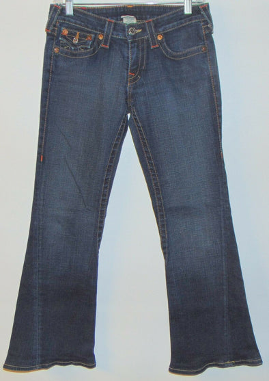 True Religion Low Rise Joey Womens Jeans SIZE 28 STYLE 10-503 flare twist seam