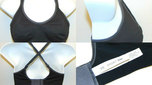 VSX Victorias Secet Womens 34C Sports Bra Underwire Black
