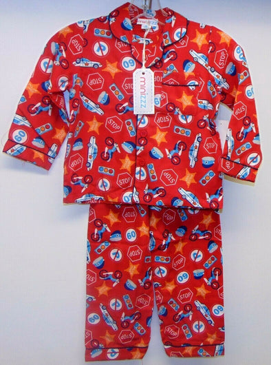 Boys Police Chief 2pc Pajama Set Red Child Size 4 Minizzz