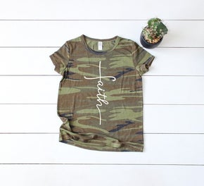 Midwest Tees Camo Faith Graphic Tee