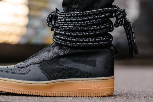 Nike SF AF1 HI Black Gum size 12. Special Field. AA1128 001. Air Force One Boots.