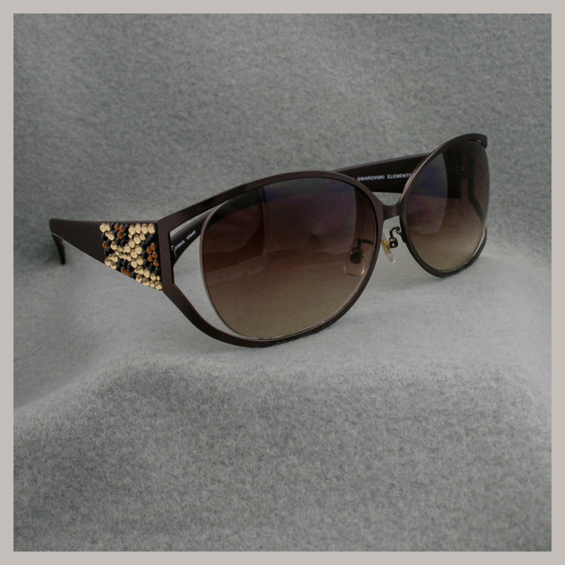 Giraffe Design Jimmy Crystal Sunglasses