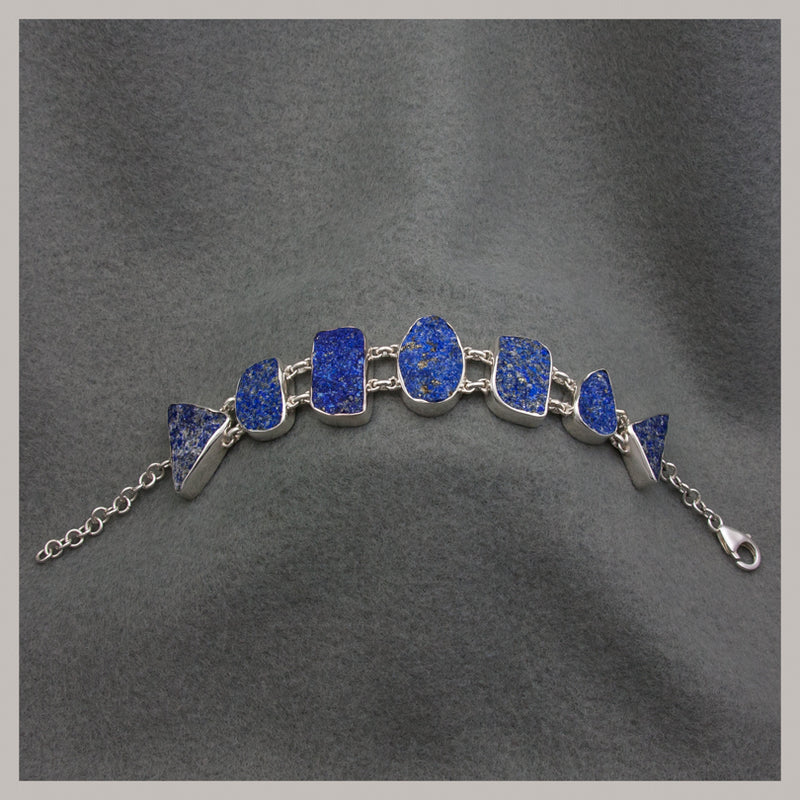 Lapis Geometric-Shaped Bracelet