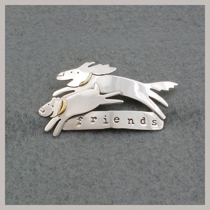 Dog Friends Pin