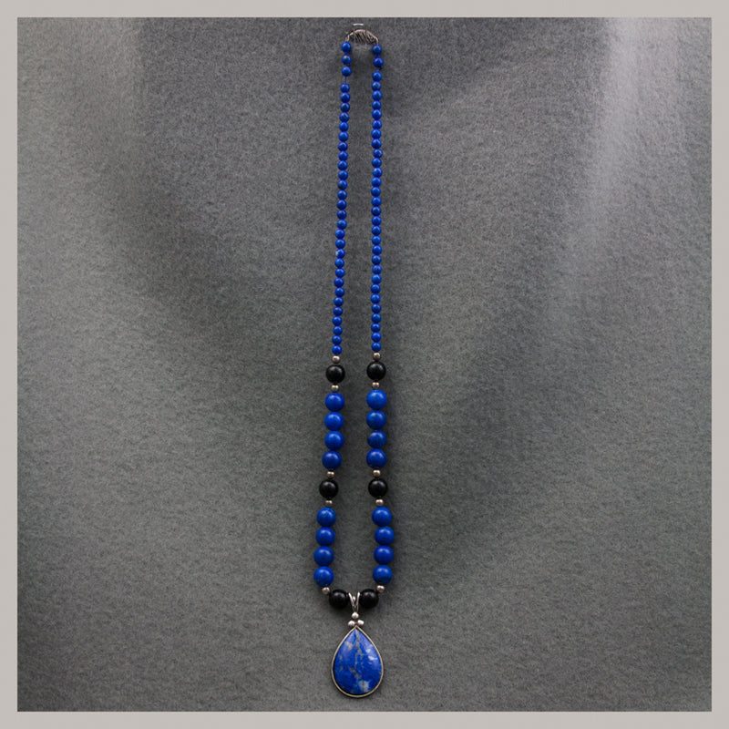 Lapis and Onyx Necklace