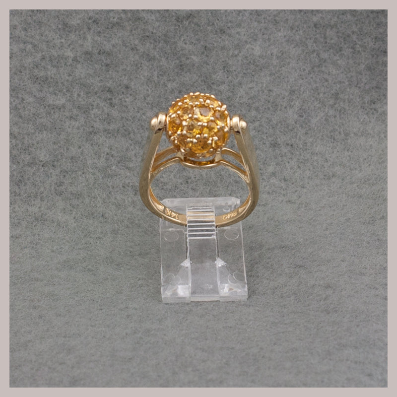 Spinning Gold Citrine Ring
