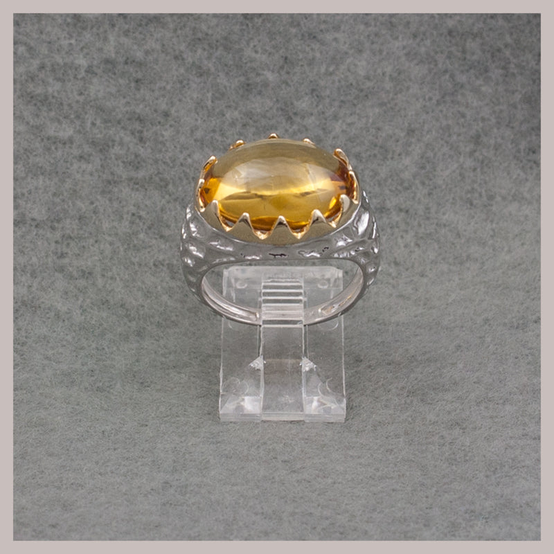 Gold and Citrine Oval Ring
