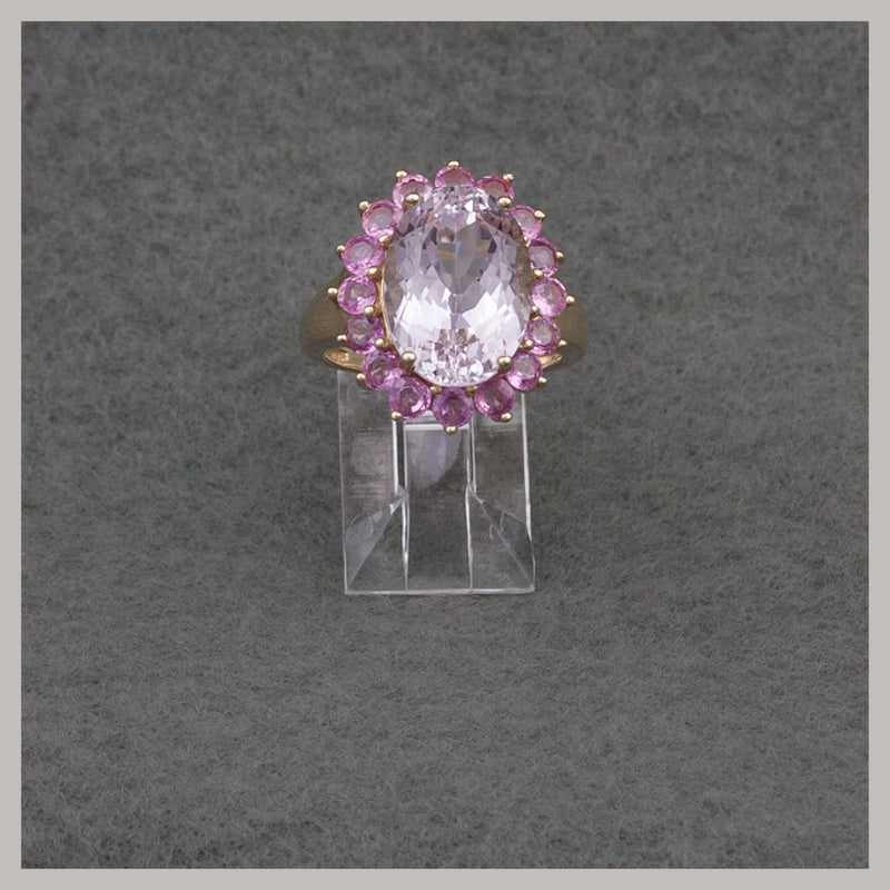 Kunzite and Pink Topaz Ring