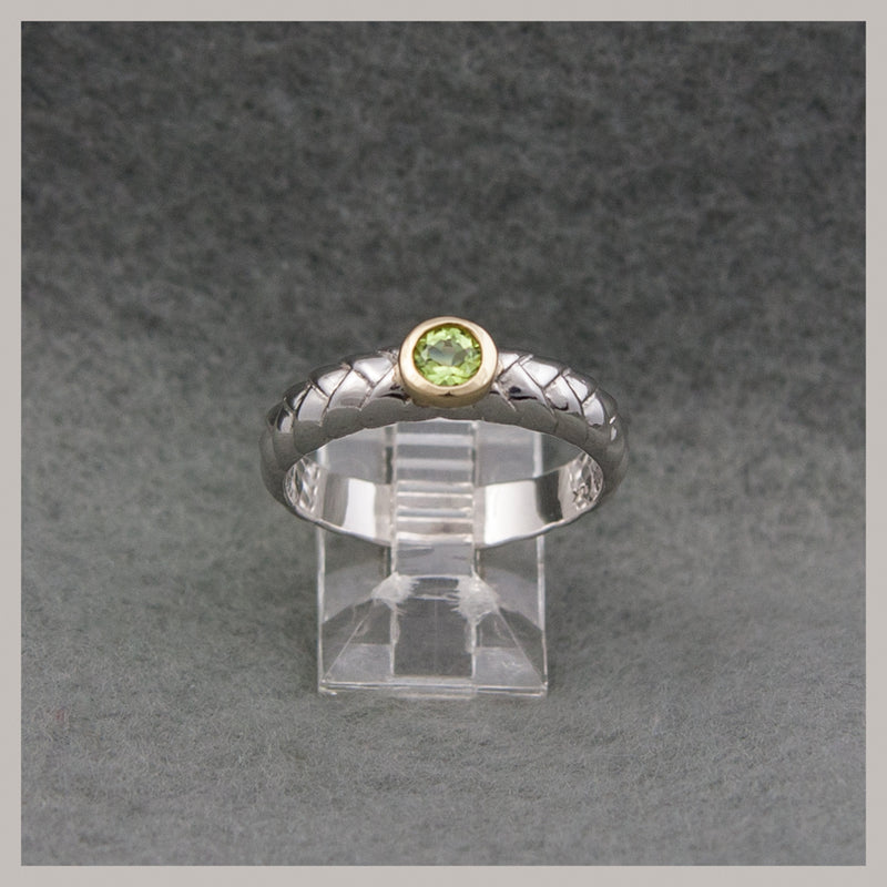 Peridot Two Tone Ring