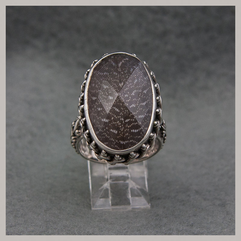 Feather Quartz Ring