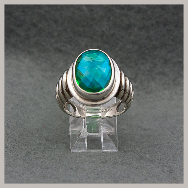 Peacock Quartz Ring